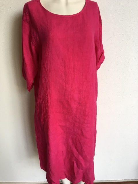 Verrassend Linnen jurk fuchsia – Mooilifestyle Webshop VY-07