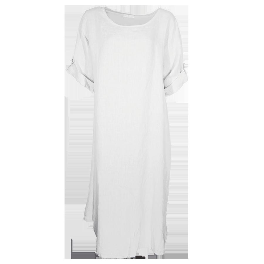Goede Linnen jurk wit – Mooilifestyle Webshop PW-26